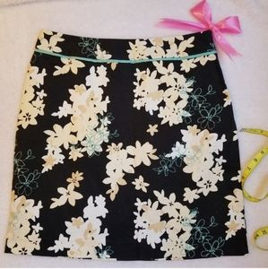 geoffrey beene floral skirt size 10,clothing